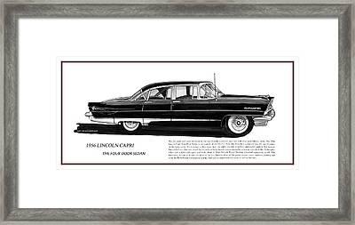 Lincoln Capri 1956 Framed Print by Jack Pumphrey