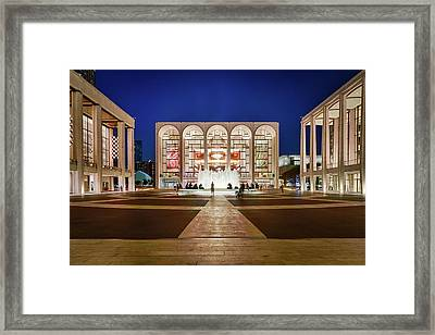 Lincoln Center At Night Framed Print by Art Calapatia