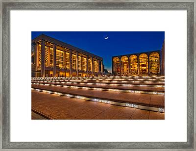 Lincoln Center At Twilight Framed Print by Susan Candelario
