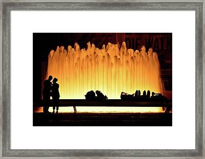 Lincoln Center Fountain Framed Print