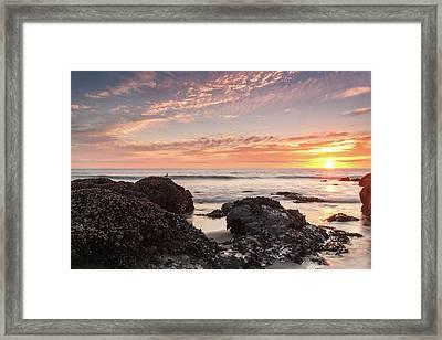 Lincoln City Beach Sunset - Oregon Coast Framed Print by Brian Harig