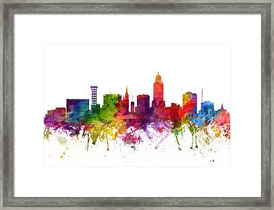 Lincoln Cityscape 06 Framed Print by Aged Pixel
