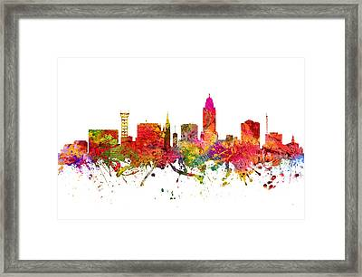 Lincoln Cityscape 08 Framed Print by Aged Pixel