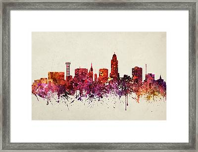 Lincoln Cityscape 09 Framed Print by Aged Pixel