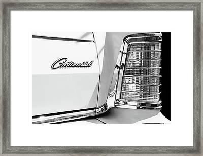 Lincoln Continental Mark Iv Head Light -0149bw Framed Print by Jill Reger