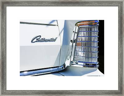 Lincoln Continental Mark Iv Head Light -0149c Framed Print by Jill Reger