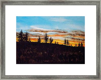 Lincoln County Sunset 1 Framed Print