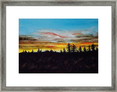 Lincoln County Sunset 2 Framed Print