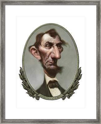 Lincoln Framed Print by Court Jones