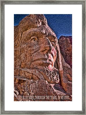 Lincoln Crying Framed Print by Kevin  Sherf