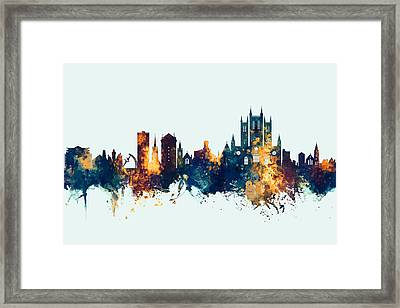 Lincoln England Skyline Framed Print