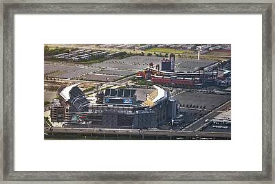 Lincoln Financial Field And Citizens Bank Park Framed Print by Bill Cannon