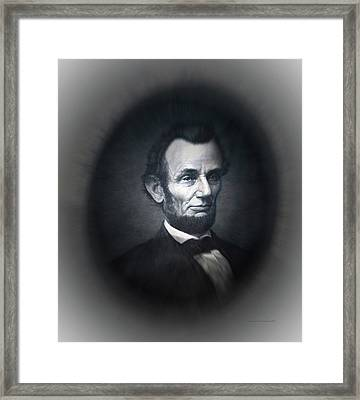 Lincoln Forever In Our Minds Eye Framed Print