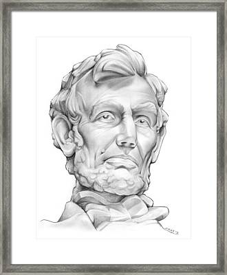 Lincoln Framed Print by Greg Joens
