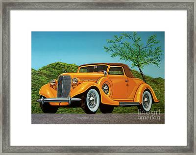 Lincoln K Convertible 1935 Painting Framed Print