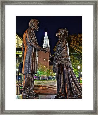 Lincoln Meets Stowe Framed Print