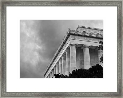 Lincoln Memorial - Black And White - Washington Dc Framed Print by Brendan Reals