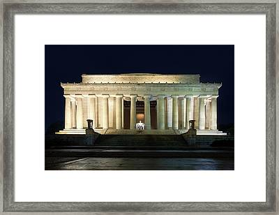 Lincoln Memorial At Twilight Framed Print by Andrew Soundarajan