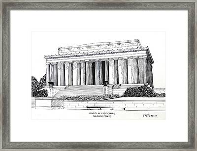 Lincoln Memorial  Framed Print by Frederic Kohli
