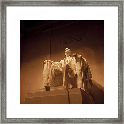 Lincoln Memorial Framed Print by Gene Sizemore