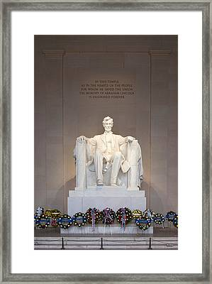 Lincoln Memorial I Framed Print by Clarence Holmes