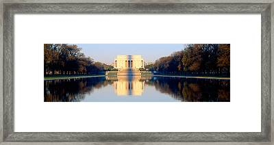 Lincoln Memorial In Shadow Framed Print by Panoramic Images