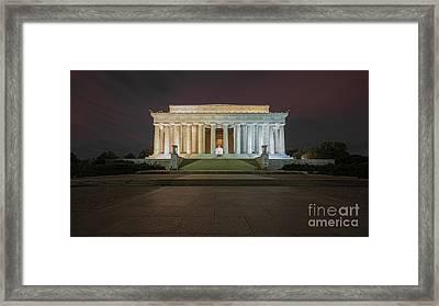 Lincoln Memorial Midnight Framed Print