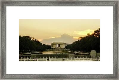 Lincoln Memorial Sunset Framed Print