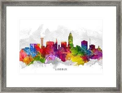 Lincoln Nebraska Cityscape 13 Framed Print