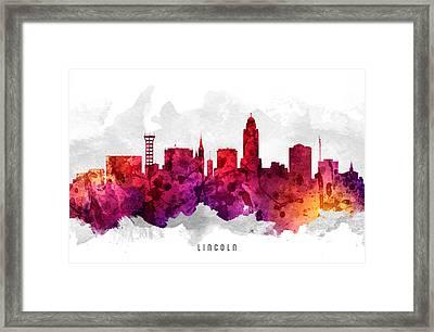 Lincoln Nebraska Cityscape 14 Framed Print