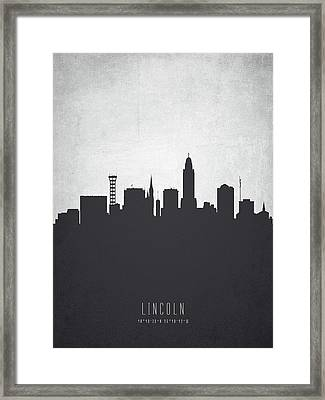 Lincoln Nebraska Cityscape 19 Framed Print