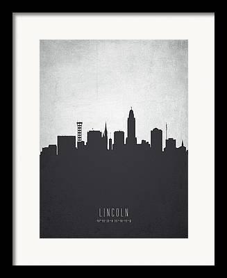 Lincoln City Digital Art Framed Prints