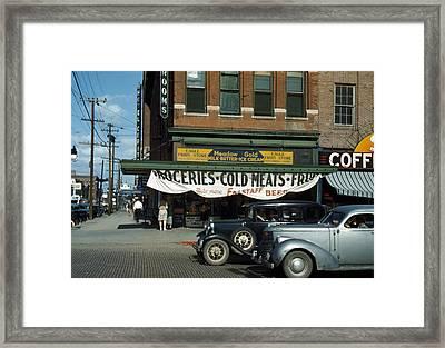Lincoln, Nebraska, Eagle Fruit Store Framed Print