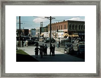 Lincoln, Nebraska, Seed And Feed Store Framed Print