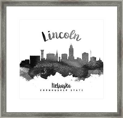 Lincoln Nebraska Skyline 18 Framed Print