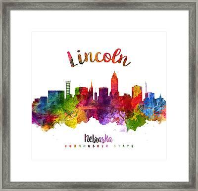 Lincoln Nebraska Skyline 23 Framed Print