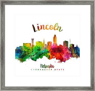 Lincoln Nebraska Skyline 24 Framed Print