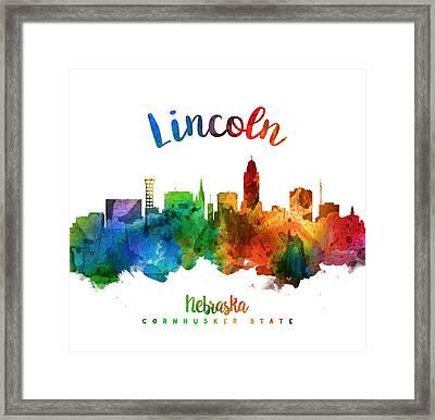 Lincoln Nebraska Skyline 25 Framed Print