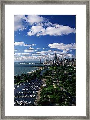 Lincoln Park And Diversey Harbor Framed Print by Panoramic Images