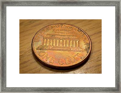 Lincoln Penny Framed Print