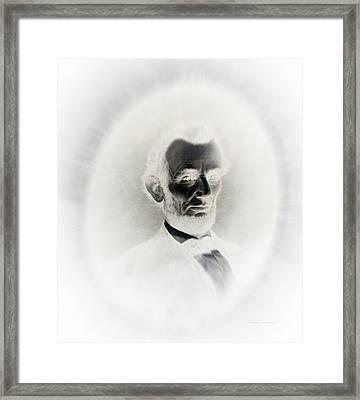 Lincoln Portrait Inverted Image Framed Print