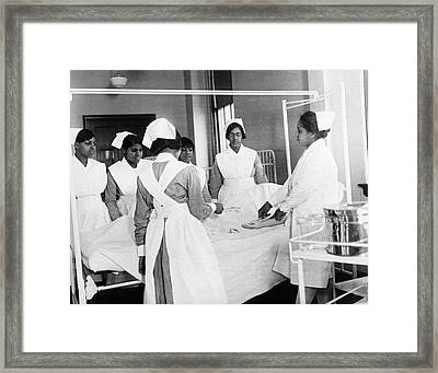 Lincoln School For Nurses Framed Print by Underwood Archives