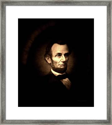 Lincoln Sepia Portrait Framed Print
