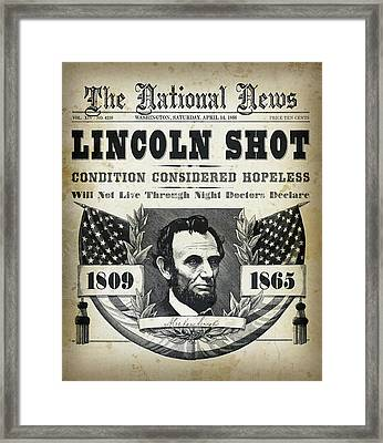Lincoln Shot Headline  Framed Print by Daniel Hagerman