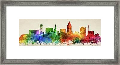 Lincoln Skyline Panorama Usneli-pa03 Framed Print