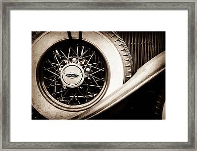 Lincoln Spare Tire Emblem -1842s Framed Print by Jill Reger