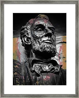 Lincoln Stoic Framed Print