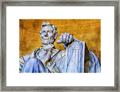 Lincoln Up Close Framed Print