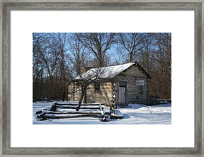 Lincoln's First Store Framed Print by Gregory Jeffries