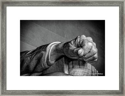 Lincoln's Left Hand B-w Framed Print